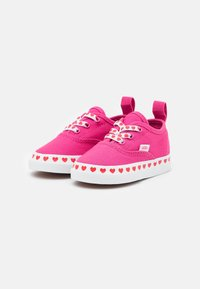 Vans - AUTHENTIC ELASTIC LACE - Sneakers laag - fuchsia purple/high risk red - 1