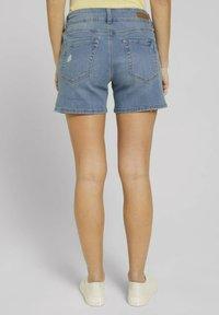 TOM TAILOR DENIM - CAJSA - Denim shorts - used light stone blue denim - 2