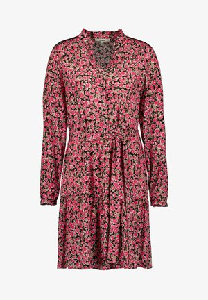 Shirt dress - fiery pink