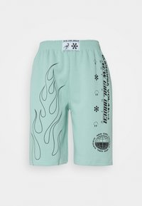 NEW girl ORDER - OUTLINE FLAME  - Shorts - turquoise - 0