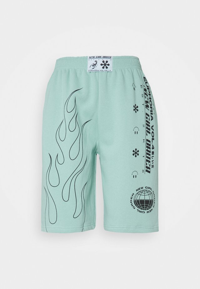 OUTLINE FLAME  - Shorts - turquoise