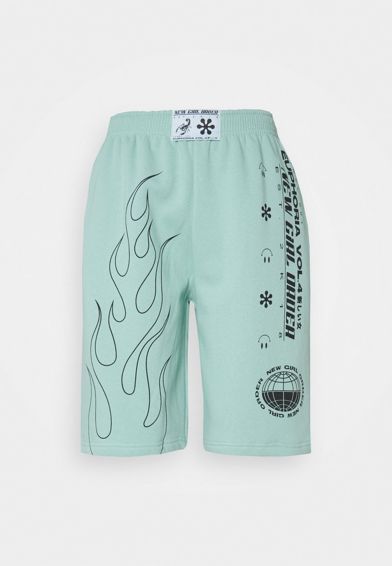 NEW girl ORDER - OUTLINE FLAME  - Shorts - turquoise