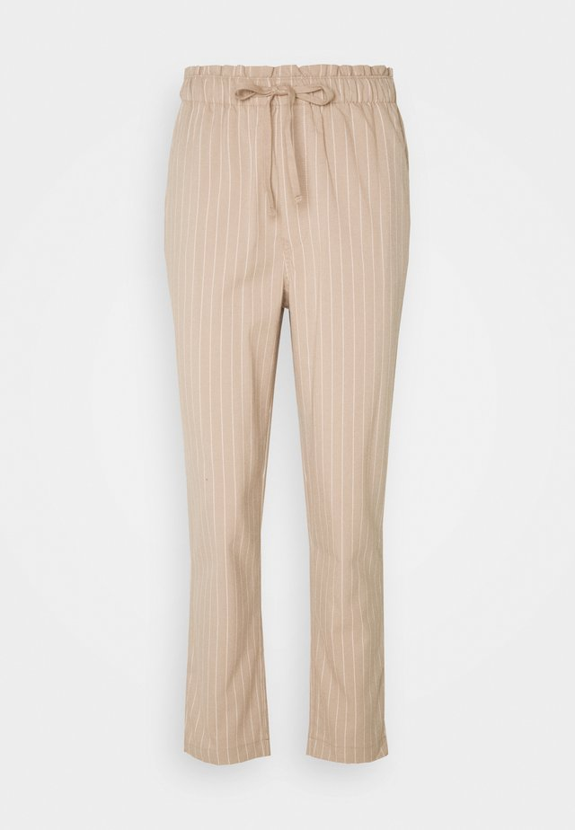 STRIPE PANT - Trousers - tan