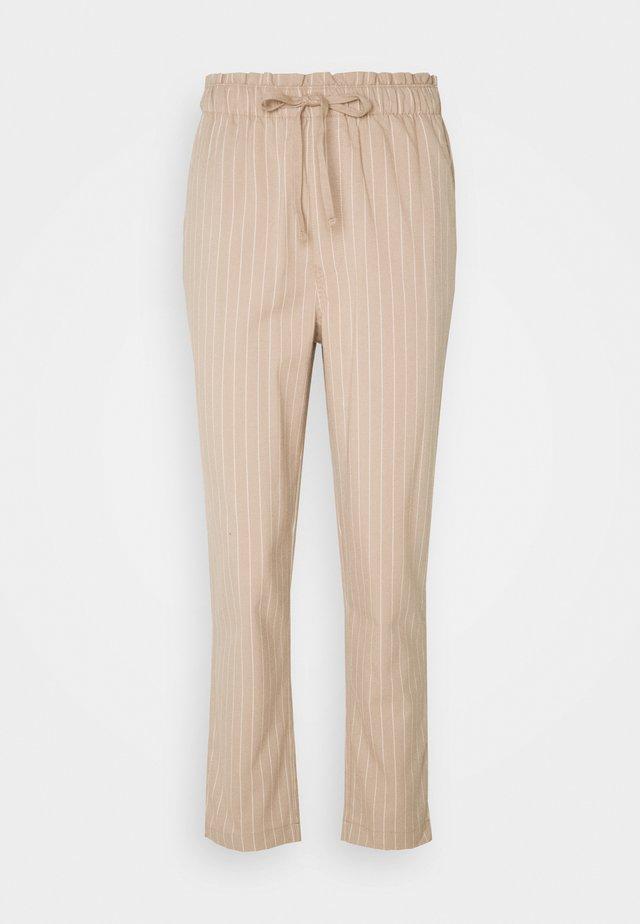 STRIPE PANT - Trousers - tan