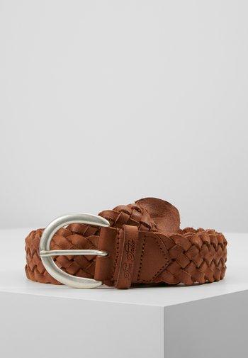 Braided belt - cognac