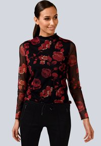 Alba Moda - Long sleeved top - rot/schwarz - 0