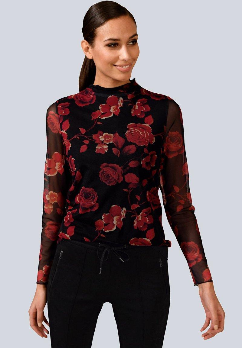 Alba Moda - Long sleeved top - rot/schwarz