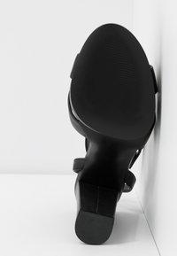 Even&Odd Wide Fit - LEATHER - Sandaler med høye hæler - black - 6