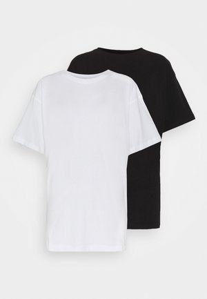 DROP SHOULDER OVERSIZED WASHED 2 PACK - T-shirts - black