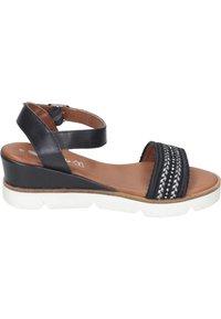 Piazza - Wedge sandals - black - 5