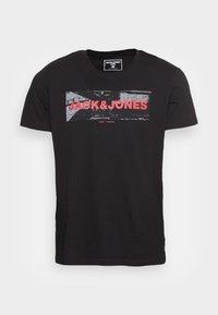 JJHONOUR TEE CREW NECK - Print T-shirt - black