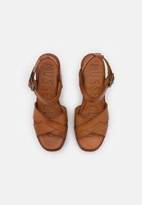 Musse & Cloud - ROSAURA - Platform sandals - brown - 5