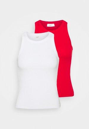 NOVA TANK 2 PACK - Top - white/true red