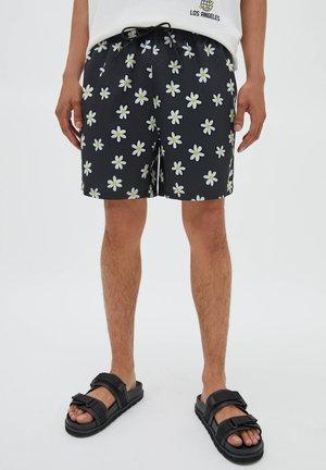 MIT ALLOVER-PRINT - Swimming shorts - mottled black