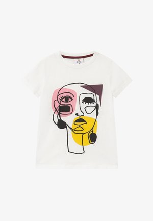 RIGA TEE - Print T-shirt - cloud dancer