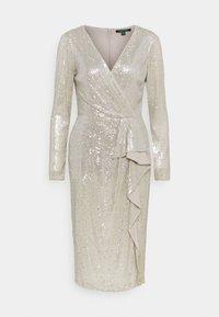 Lauren Ralph Lauren - MILLBROOK DRESS - Sukienka koktajlowa - silver frost shin - 0