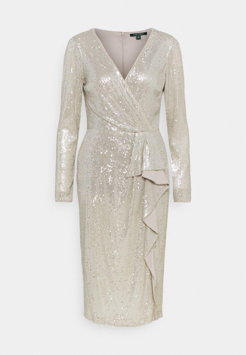 Lauren Ralph Lauren - MILLBROOK DRESS - Sukienka koktajlowa - silver frost shin