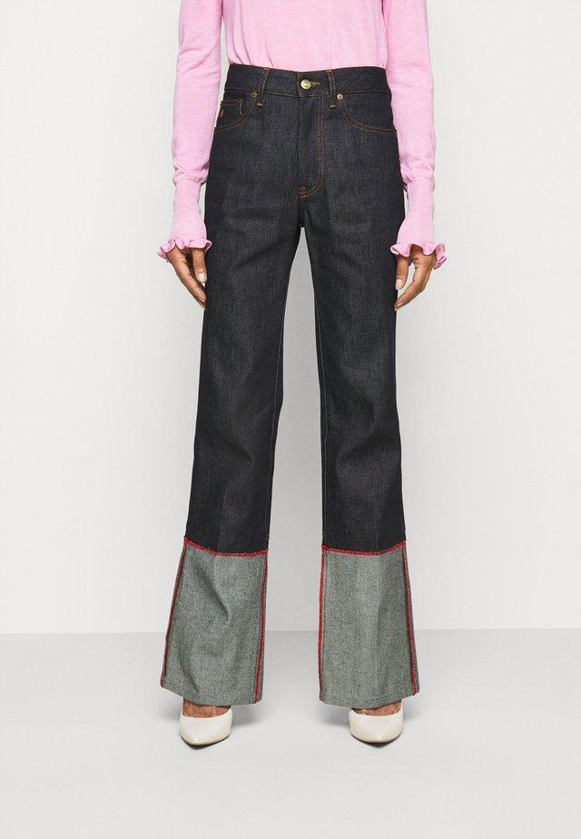 SPLIT HEM  - Jeans straight leg - raw indigo