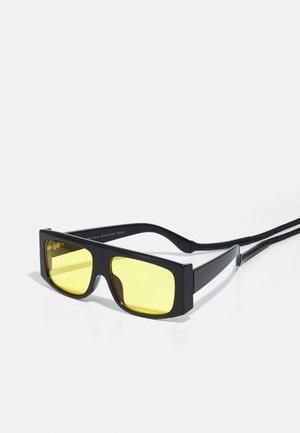 SUNGLASSES RAJA WITH STRAP UNISEX - Sunglasses - black/yellow