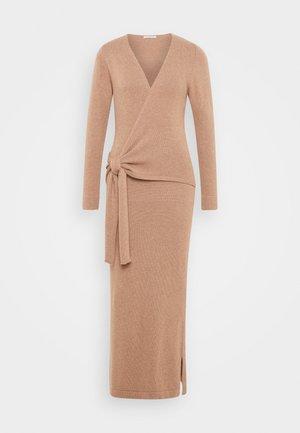 ELLA MIDI WRAP DRESS - Jumper dress - beige