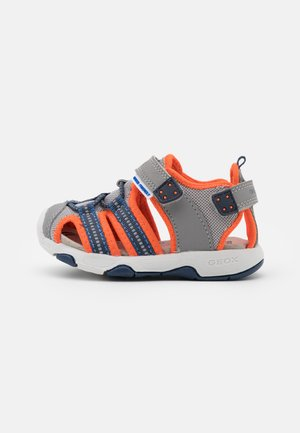 MULTY BOY - Sandals - grey/fluo orange