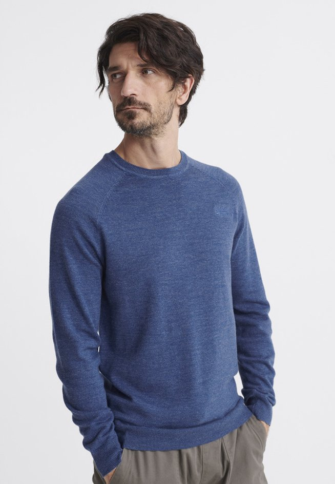 Superdry - ORANGE LABEL - Pullover - adriatic blue grindle