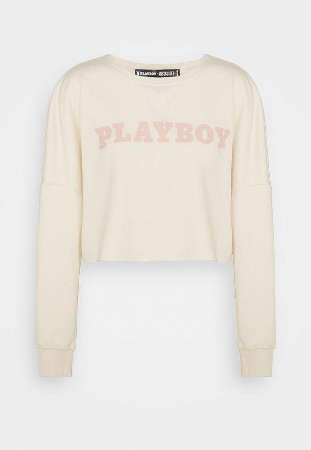 PLAYBOY LOGO - Sweatshirt - sand