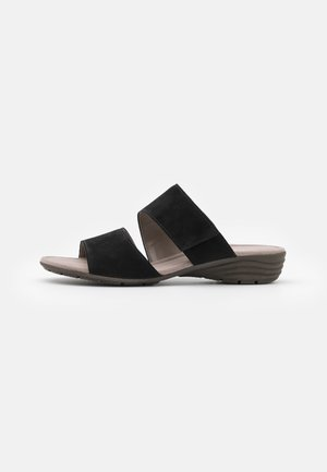 Sandalias planas - schwarz