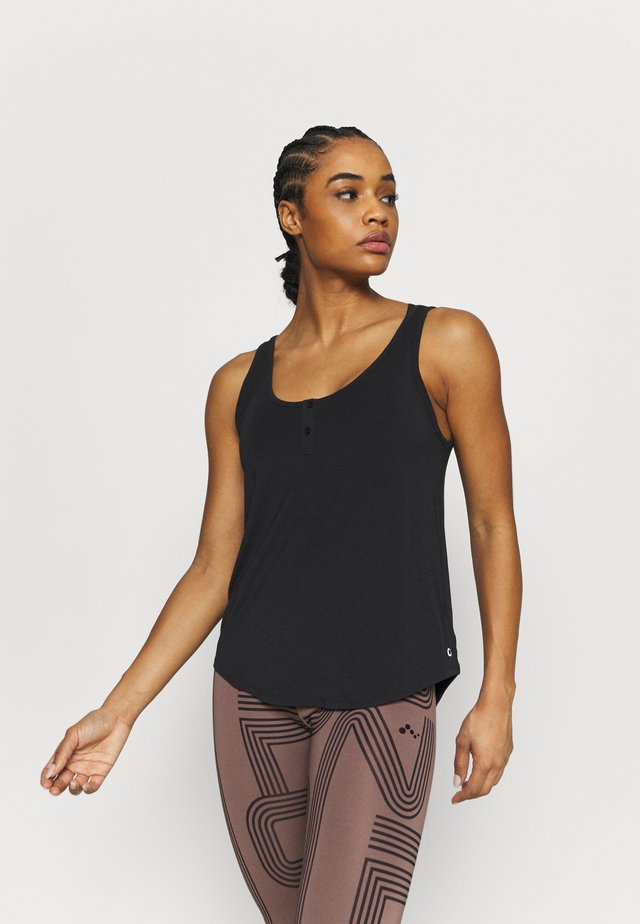 BREATHE HENLEY TANK - Top - true black
