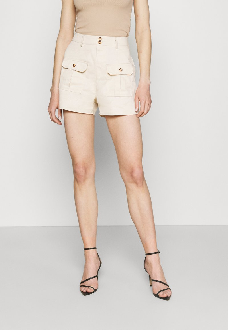 Missguided - DOUBLE POCKET - Shorts - cream