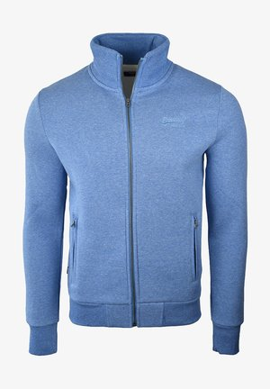 Zip-up hoodie - bright blue grit