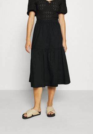 MANDY SKIRT - A-linjainen hame - black dark