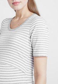 Boob - NIGHT DRESS - Negligé - white/grey melange - 3