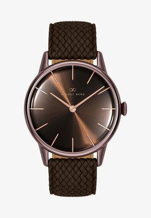 UHR SERENITY CUPPA BROWN DARK BROWN PERLON 32MM - Watch - sunray brown
