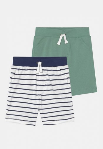 2 PACK - Shorts - dark blue/green