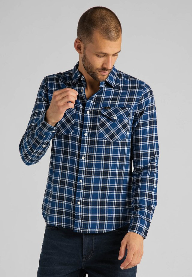 CLEAN WESTERN - Camicia - washed blue