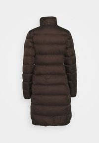 Marc O'Polo - COAT LONG FILLED HOOD FLAP POCKETS - Down coat - dark chocolate - 3