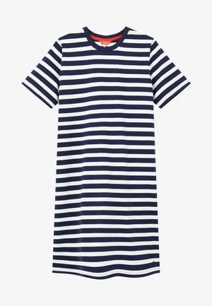 Jersey dress - marineblau sreifen