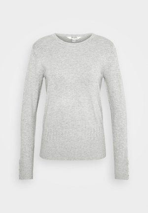 PEARL CUFF CREW NECK JUMPER - Maglione - light grey