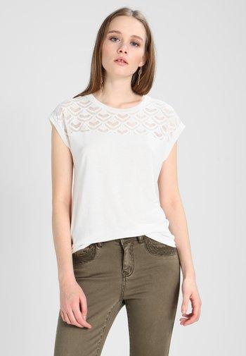ONLNICOLE LIFE MIX - T-shirt imprimé - cloud dancer
