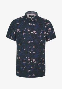 ISAAC TONAL FLORAL SHIRT - Shirt - mid blue