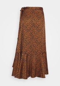 Scotch & Soda - PRINTED WRAP SKIRT - Áčková sukně - brown - 1