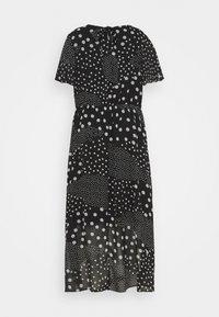 Dorothy Perkins Curve - CURVE PUFF SLEEVE DRESS - Maxi dress - black/white - 6