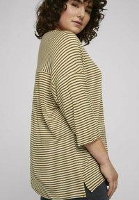MY TRUE ME TOM TAILOR - MIT STREIFEN - Long sleeved top - ecru umber stripe - 3