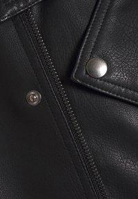 Jack & Jones - JORNOLAN BIKER JACKET - Faux leather jacket - black - 3