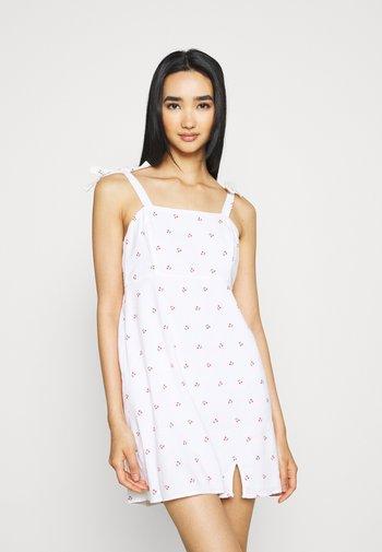 Kjole - white cherry