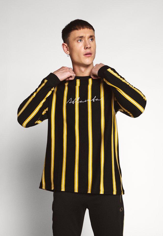 STRIPE - T-shirt à manches longues - black