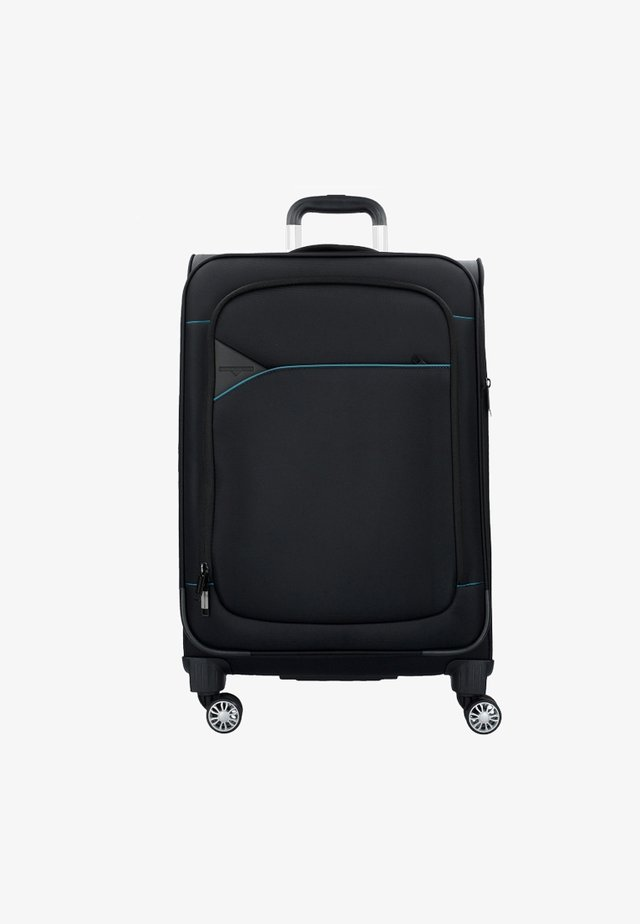 Wheeled suitcase - black petrol