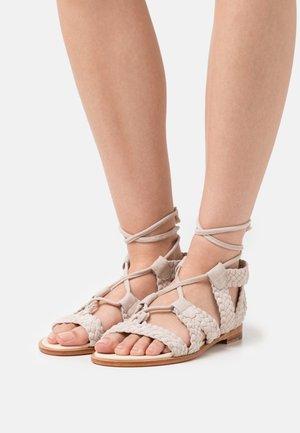 SANDRA 11 - Sandals - ivory/egg/natural
