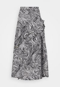Topshop - RUFFLE ZEBRA MIDAXI SKIRT - A-line skirt - mono - 4